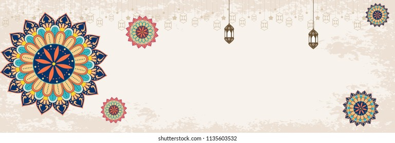 Eid mubarak sale.islamic festival media social banner.arabic header or footer template design