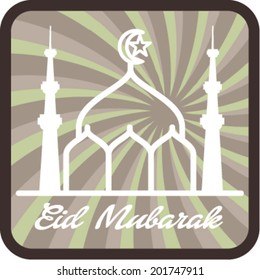 Eid Mubarak . Vector illustration