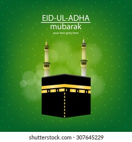 Eid-ul-adha Mubarak. on a Vector Eid greeting card for the muslim holy festival of Eid.