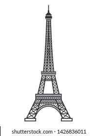 Eifel tower silhouette. Vector illustration