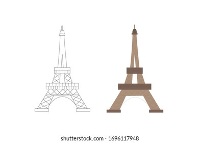 Eiffel Country Icon Vector Design Illustration Bundle