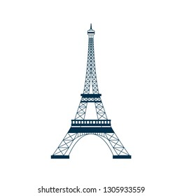 Eiffel landmark symbol vector