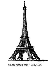 Eiffel Tower 2 - Retro Clip Art