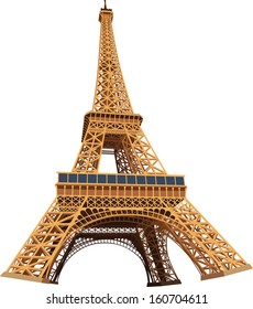 Eiffel Tower 3D Vector Illustration