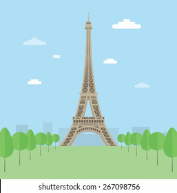Eiffel tower. EPS10.