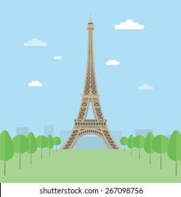 Eiffel tower. EPS10.