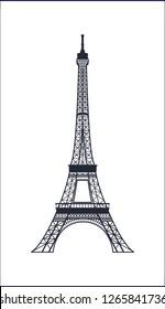 The Eiffel Tower, French symbols, famous landmarks