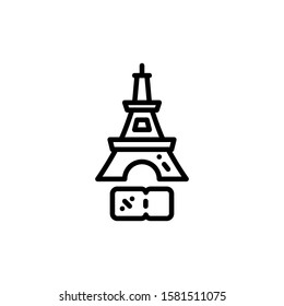 Eiffel Tower Icon Outline Vector. Holiday Sale Icons. Online Shop Ikon.