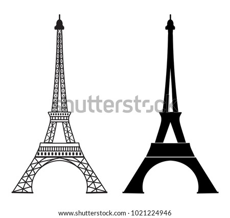 Eiffel tower icon popular paris monument stock vector royalty free eiffel tower icon popular paris monument and tourist attraction outline monochrome design logo maxwellsz