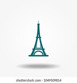 Eiffel tower icon vector.