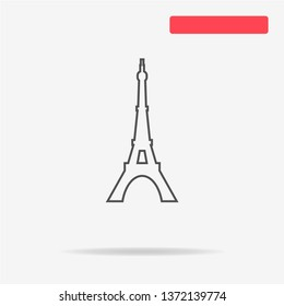 Eiffel tower icon. Vector concept illustration for design.