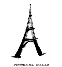 eiffel tower, illustration vector
