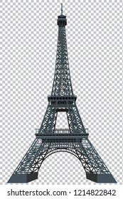 Eiffel tower isolated on grid background graphic vector