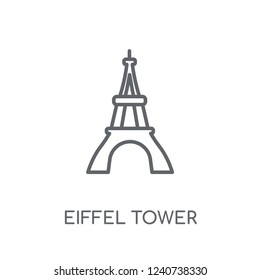Eiffel tower linear icon. Modern outline Eiffel tower logo concept on white background from Architecture and Travel collection. Suitable for use on web apps, mobile apps and print media.