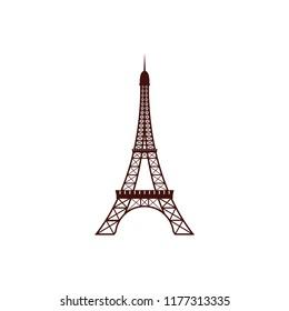 Eiffel Tower  logo design template vector