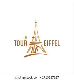 Eiffel tower logo for travel company