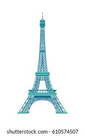 Eiffel Tower of Paris - France