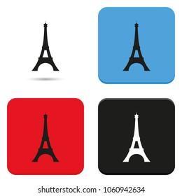 Eiffel Tower, Paris. France. Flat vector illustration. Tower icon.
