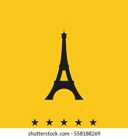 Eiffel Tower, Paris. France. Flat illustration. Tower icon.