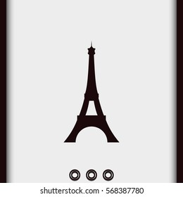 Eiffel Tower, Paris. France. Flat illustration. Tower vector icon.