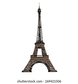 Eiffel Tower, Paris. France. Vector illustration