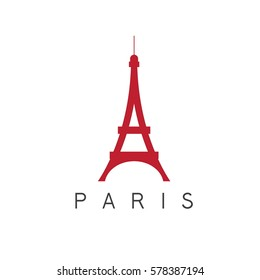 eiffel tower paris france vector design template