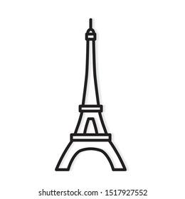 Eiffel tower Paris icon- vector illustration
