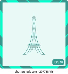 Eiffel tower in Paris vector icon