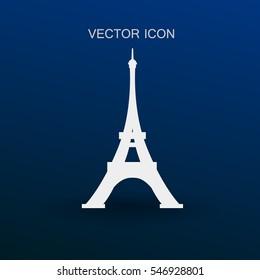 Eiffel tower Paris vector illustration