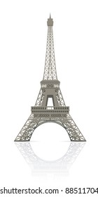 Eiffel tower in Paris vector illustration, it is easy to edit and change.