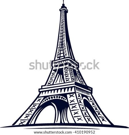Eiffel Tower Symbol Paris France Stock Vector Royalty Free