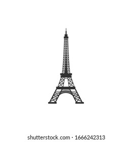Eiffel tower vector icon isolated on white background. High quality icon