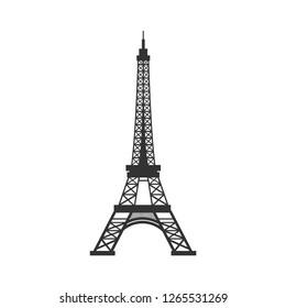 Eiffel tower vector icon, Paris architecture symbol