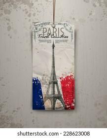 Eiffel tower vector illustration. Paris, France. Vector format