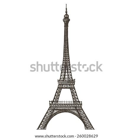 Eiffel Tower Vector Logo Design Template Stock Vector (Royalty Free ...