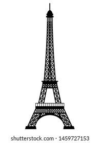 Eiffel Tower vector on a white background