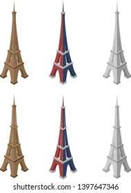 Eiffel Tower vector pack. Use this famous Parisian landmark for your design.