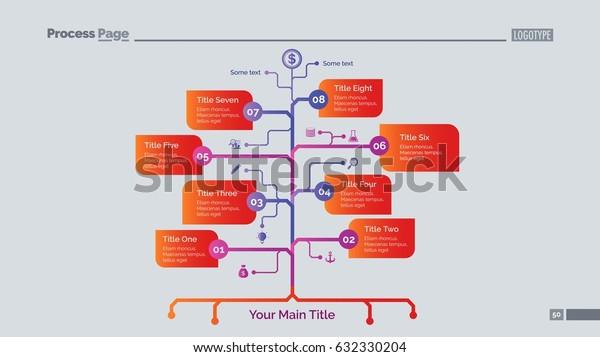Eight Branch Tree Slide Template