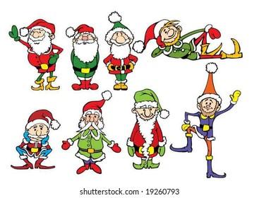 Eight Christmas dwarf
