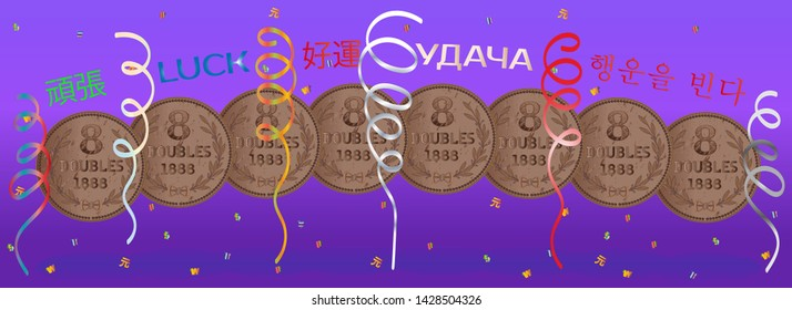Lucky Number 8 Images, Stock Photos & Vectors | Shutterstock