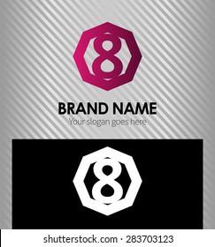 An eight logo symbol