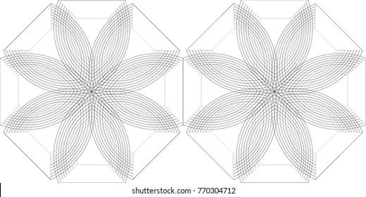Eight Petal Flower Pattern