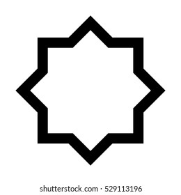 Eight point star vector shape