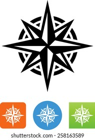 Eight pointed star icon