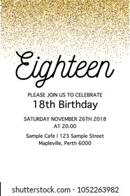 Superb 18Th Birthday Invitation Images Stock Photos Vectors Shutterstock Funny Birthday Cards Online Elaedamsfinfo