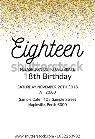 Eighteen invitation card 18th birthday party stock vector royalty eighteen invitation card 18th birthday party vector template filmwisefo
