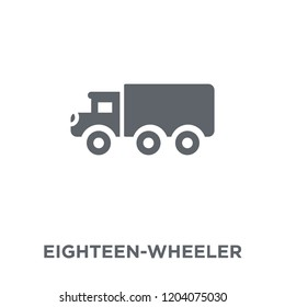 eighteen-wheeler icon. eighteen-wheeler design concept from Transportation collection. Simple element vector illustration on white background.