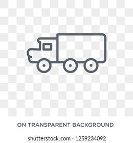 eighteen-wheeler icon. eighteen-wheeler design concept from Transportation collection. Simple element vector illustration on transparent background.