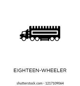 eighteen-wheeler icon. eighteen-wheeler symbol design from Transportation collection.