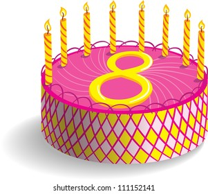 Eighth Birthday Cake